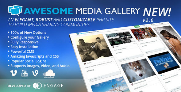 Awesome Media Gallery v2.0 PHP Script Download