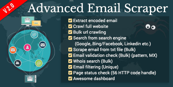 Advanced Email Scraper PHP Script Download
