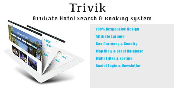 Trivik Affiliate Hotel Search Engine & Booking PHP Script Download