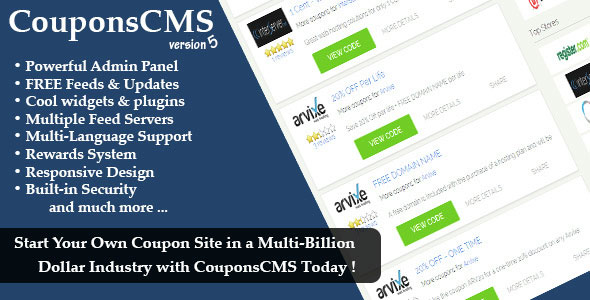 Coupons CMS 5.00 PHP Script Download