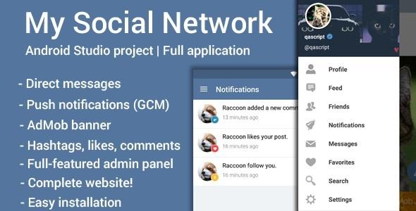 My Social Network (App and Website) v2.3 PHP Script Download