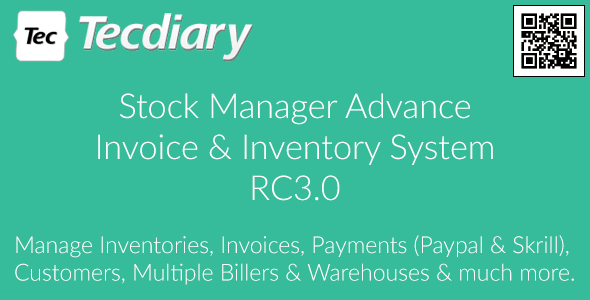 Stock Manager Advance (Invoice & Inventory System) PHP Script Download