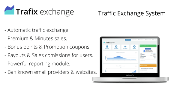 Trafix – Traffic Exchange System PHP Script Download