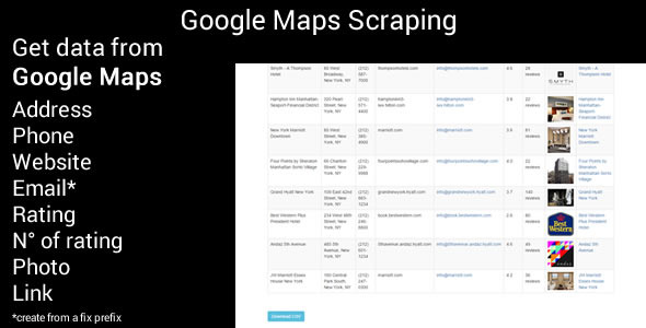Google Maps Scraping PHP Script Download