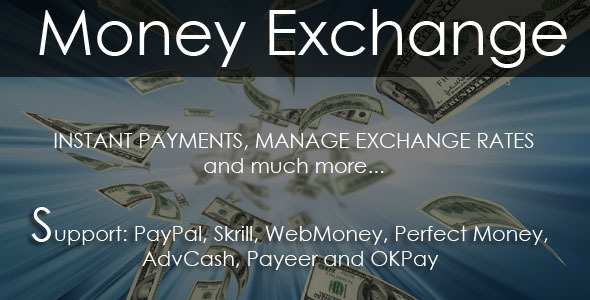 Money Exchange Script 2.0 PHP Script Download
