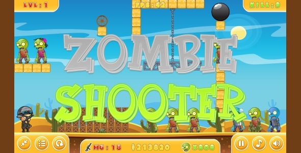 Zombie Shooter – HTML5 Game + Mobile (Capx) PHP Script Download