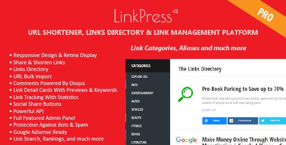 LinkPress Pro – Advanced URL Shortener, Links Directory & Link Management Platforms PHP Script Download