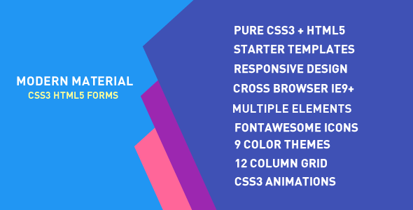 Modern Material Forms PHP Script Download