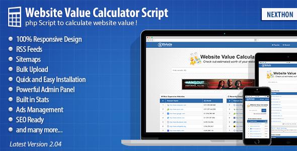 Website Value Calculator Script PHP Script Download