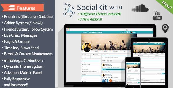 SocialKit v2.1.0 – The Ultimate Social Networking Platforms PHP Script Download