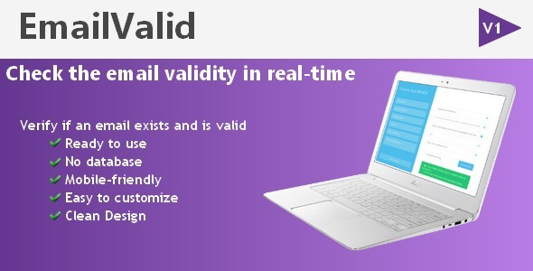 EmailValid – Check an email validity PHP Script Download