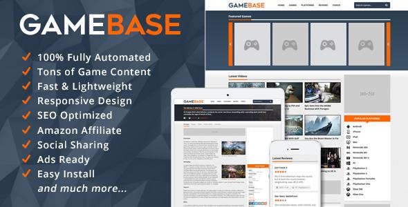 GameBase v1.1 – Video Games Database PHP Script Download
