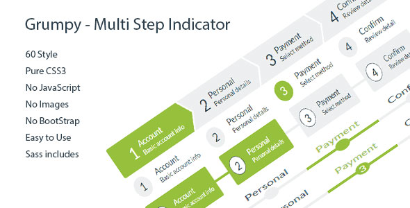 Grumpy – Multi Step Indicator 60 Style PHP Script Download