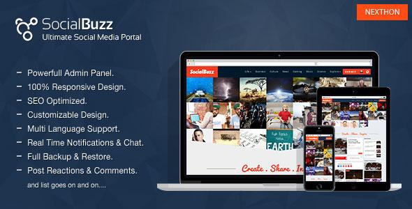 SocialBuzz v1.3 – Ultimate Social Media Portal PHP Script Download