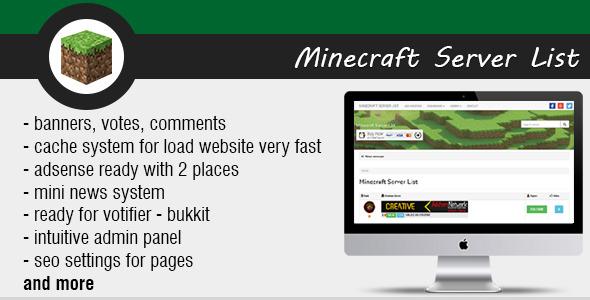 Minecraft Server List v1.4 PHP Script Download