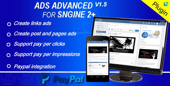 Plugin Ads Advanced For Sngine PHP Script Download