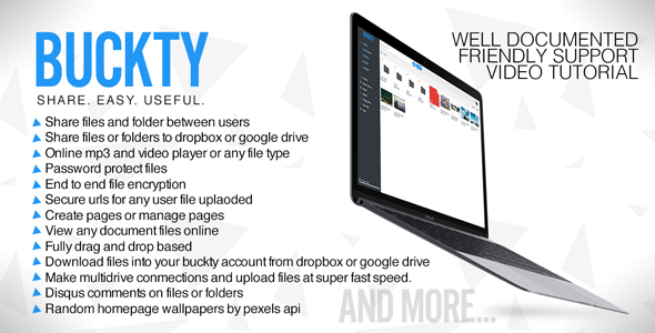 Buckty – File Hosting and Multi Cloud Service PHP Script Download