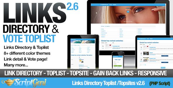 Links Directory & Toplist v2.6 PHP Script Download