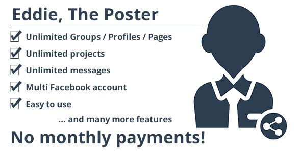 Eddie, The Poster – Facebook multi account post schedule PHP Script Download
