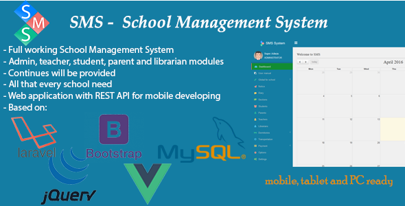 SMS – School Management System PHP Script Download