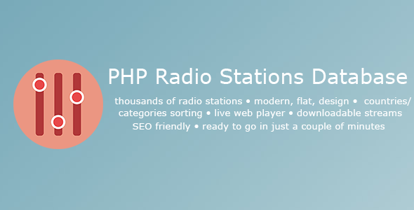 PHP Radio Stations Database v1.4 PHP Script Download
