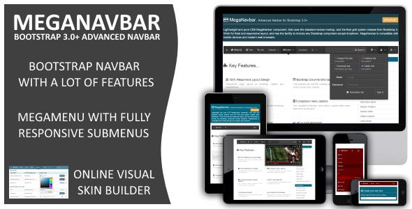 MegaNavbar (v 2.2.0). Advanced Mega Menu for Bootstrap 3.0+ PHP Script Download