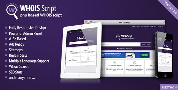 Whois Script v1.5 PHP Script Download