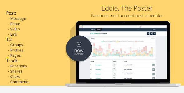 Eddie, The Poster | Facebook multi account post scheduler PHP Script Download