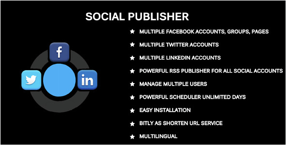 Social Publisher – Facebook, Twitter & LinkedIn Multiple Account PHP Script Download