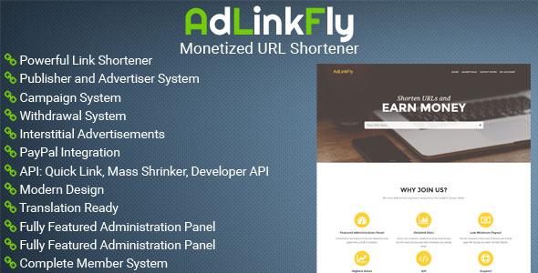 AdLinkFly – Monetized URL Shortener PHP Script Download