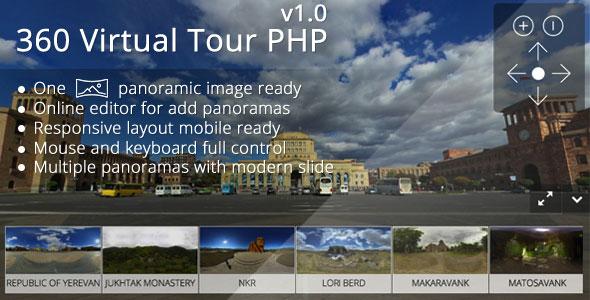360 Virtual Tour PHP v1.1 PHP Script Download