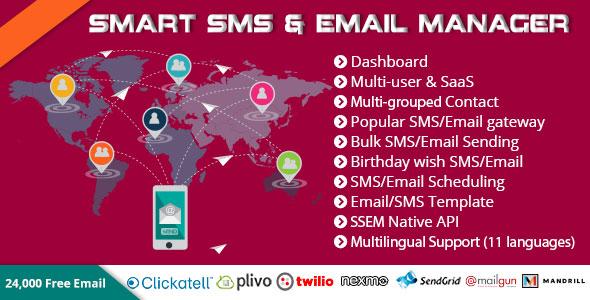 Smart SMS & Email Manager (SSEM) PHP Script Download