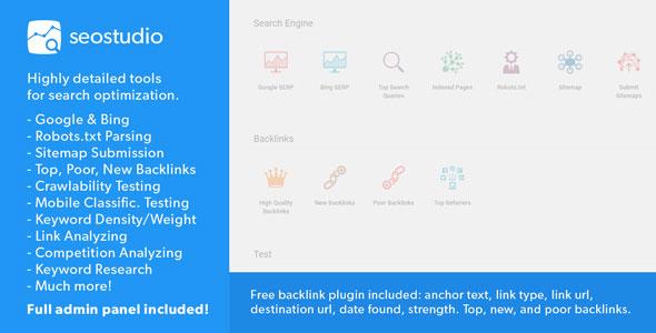 SEO Studio – Professional Tools for SEO PHP Script Download
