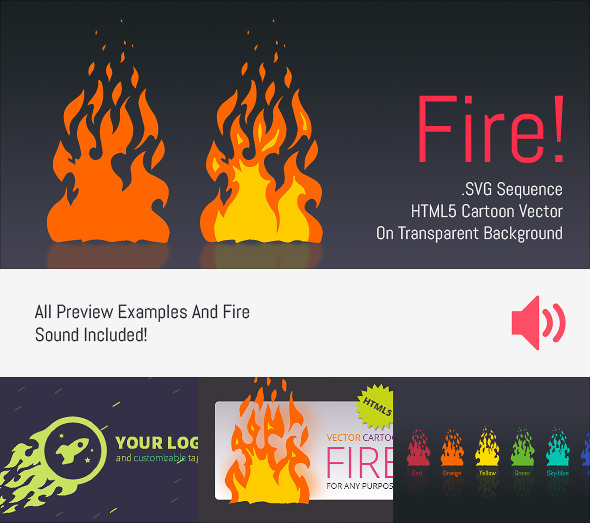 Cartoon Vector Fire – HTML5 Edge Banner Animation PHP Script Download