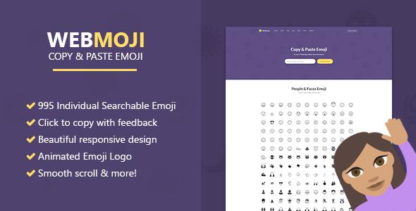 WebMoji – Searchable, Copy & Paste Emoji Directory PHP Script Download