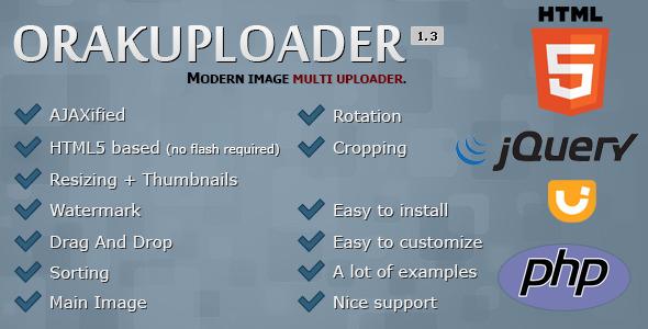 OrakUploader – Modern Image Multi Uploader PHP Script Download