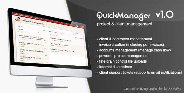 quickmanager – project & client manager PHP Script Download