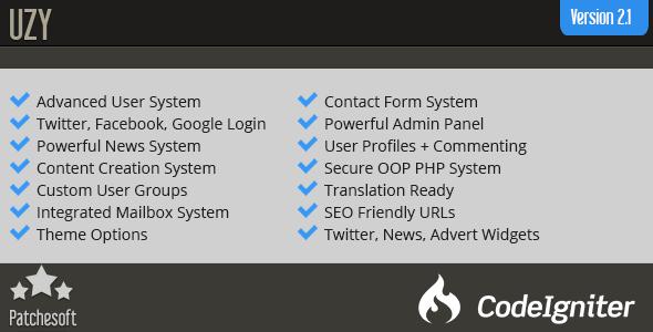 UZY v2.1 – Secure PHP Login User Management System PHP Script Download
