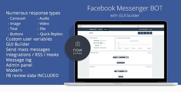 Facebook Messenger BOT GUI Builder PHP Script Download