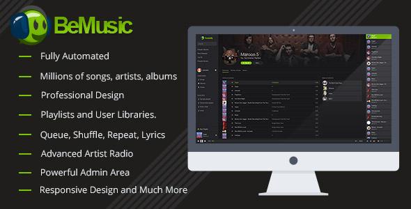 BeMusic v2.0.3 – Music Streaming Engine PHP Script Download
