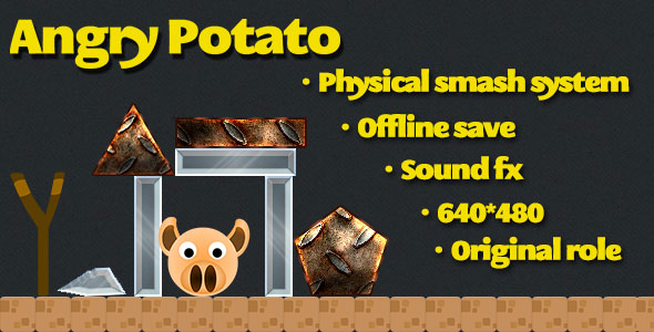 Angry Potato html5 game PHP Script Download