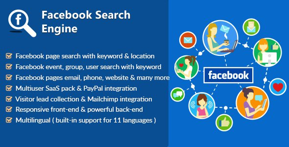 Facebook Search Engine – Lead Collector & SaaS PHP Script Download