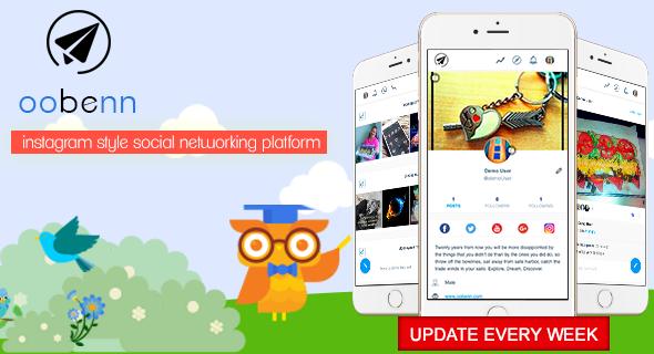 oobenn Instagram Style Social Networking Script PHP Script Download