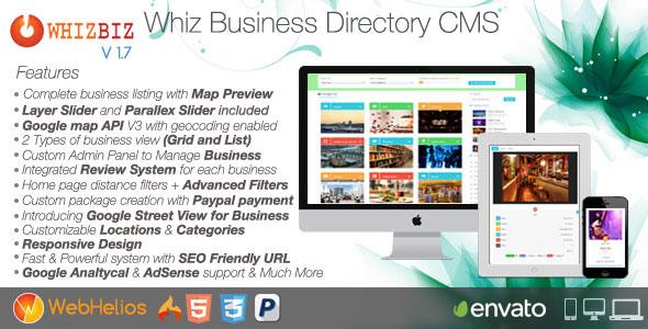 WhizBiz v1.2 – Business Directory CMS PHP Script Download