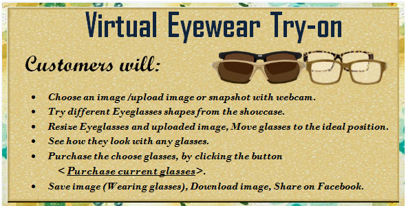 Virtual Eyewear Try-on PHP Script Download