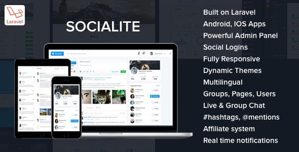 Socialite – Laravel Social Network Script PHP Script Download