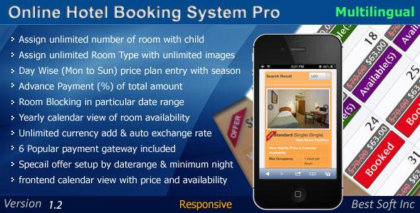Online Hotel Booking System Pro v1.2 PHP Script Download