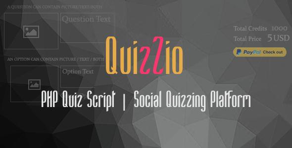 Quizzio – PHP Quiz Website Script   Viral Social Quizzes PHP Script Download