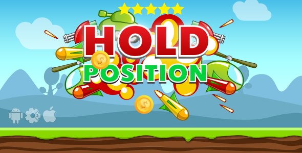 Hold Position – HTML5 Game + Mobile. Construct 2 (capx) + Cocoon ADS PHP Script Download