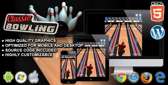 Classic Bowling – HTML5 Sport Game PHP Script Download